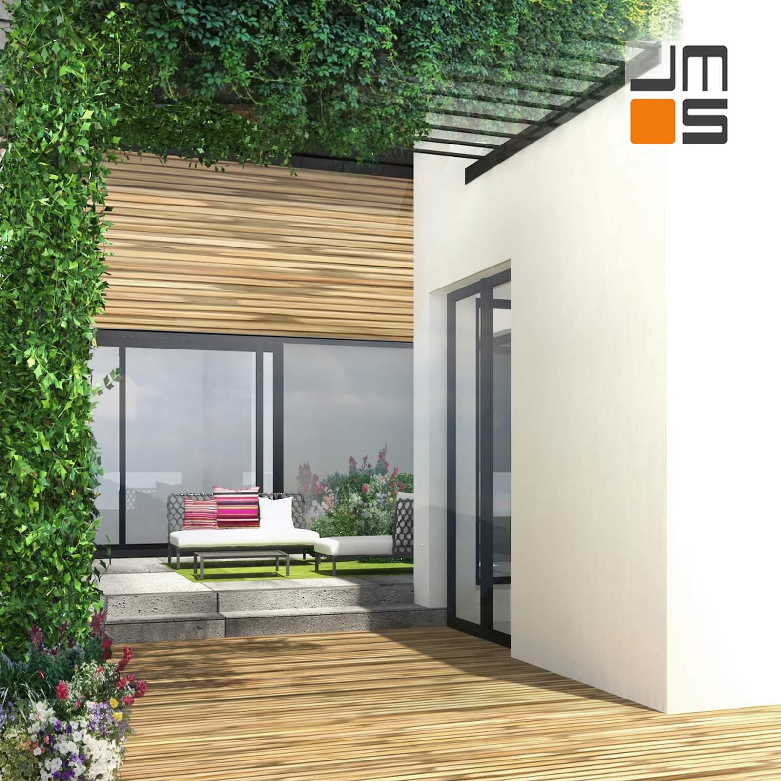 Balkon W Domu Jednorodzinnym: Nowoczesny Projekt Domu Jednorodzinnego , Dom Na Działce