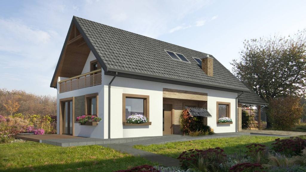 architekt Kraków projekt rustykalnego domu na wsi w starym siedlisku pod Krakowem