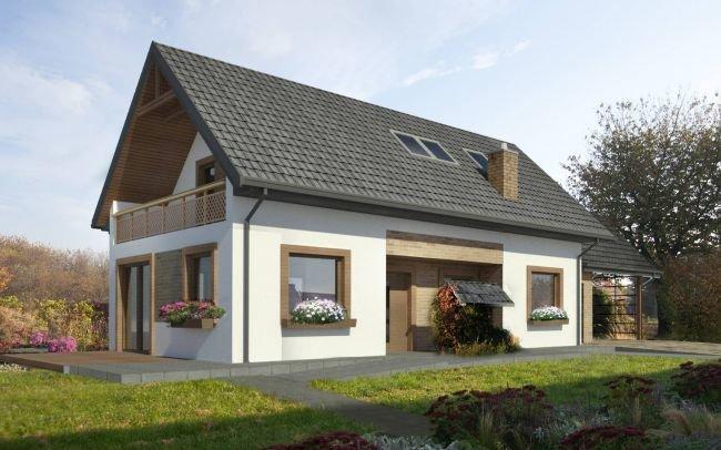 Architekt Kraków - Projekt indywidualny małego domu na wsi w starym siedlisku o rustykalnym charakterze pod Krakowem