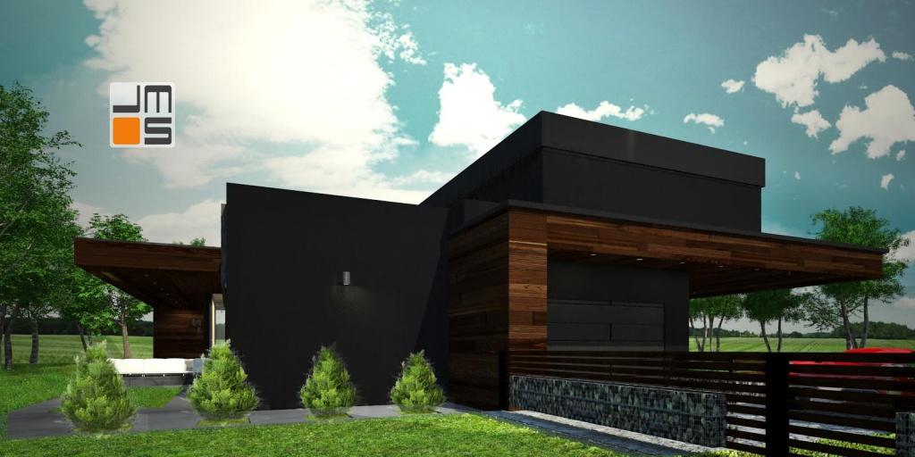 Nowatorska elewacja budynku mieszkalnego
