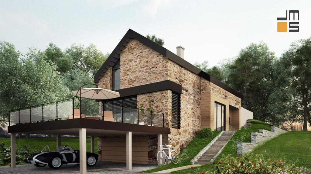 Projekt domu w górach mała działka duży spadek
