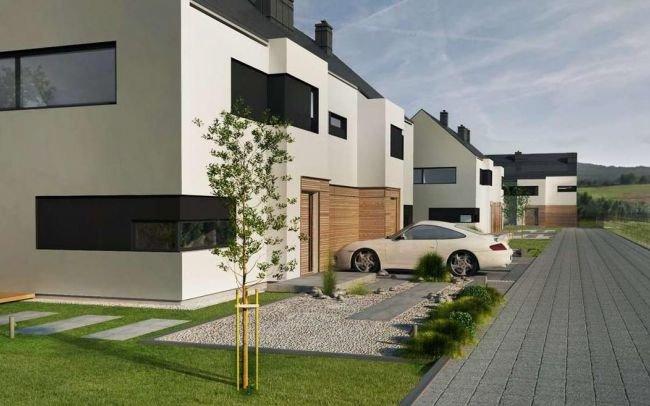 Nowoczesny projekt rezydencji z płaskim dachem w Bielsko Biała
