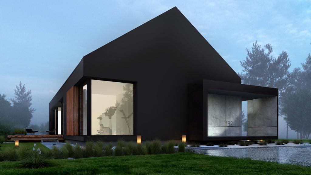 Nowoczesna architektura często realizowana jest w chłodnych kolorach i materiałach elewacyjnych które trzeba przełamnać ciepłym drewnem by były bardziej przyjazne.