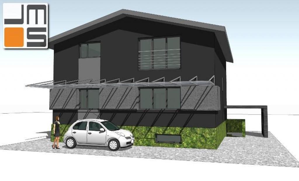 Projekt przebudowy elewacji domu mieszkalnego z czasów komunistycznych