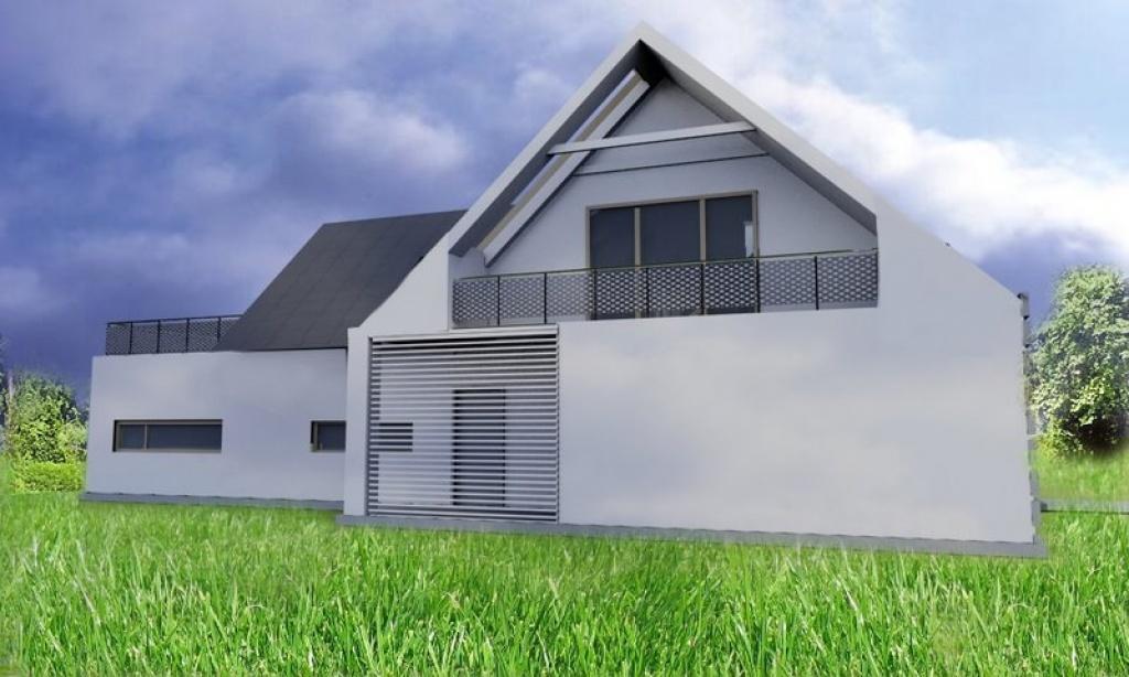 Indywidualny projekt domu z żaluzjami elewacyjnymi