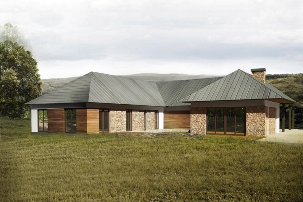 Projekt dużego domu parterowego  parterowa rezydencja