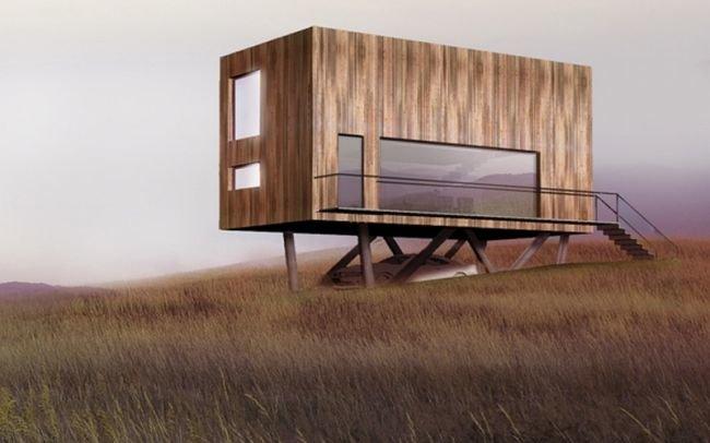 Projekt nowoczesnego domu kostki  dom z kontenerów