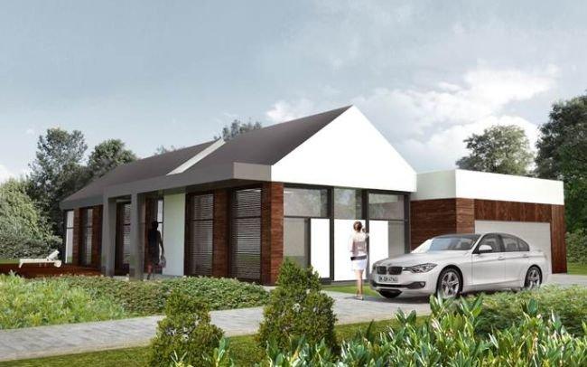 Projekt domu jednorodzinnego z atrakcyjnym tarasem dachowym