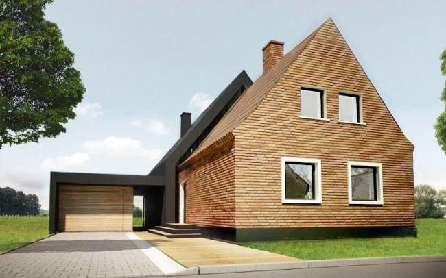Projekt rozbudowy domu jednorodzinnego w nowoczesnym stylu