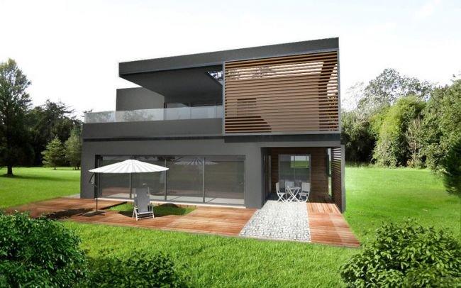 Projekt nowoczesnego domu z płaskim dachem,J6wersja mniejsza