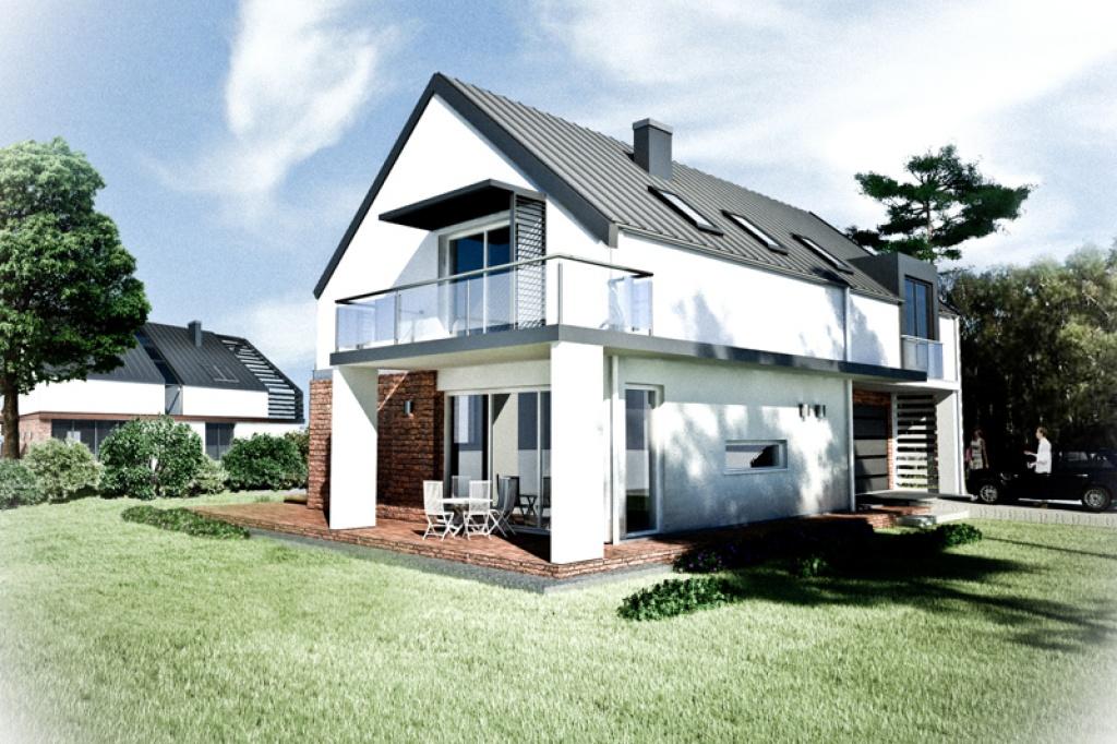 Projekt nowoczesnego domu K3 na konkurs osiedla w Gliwicach