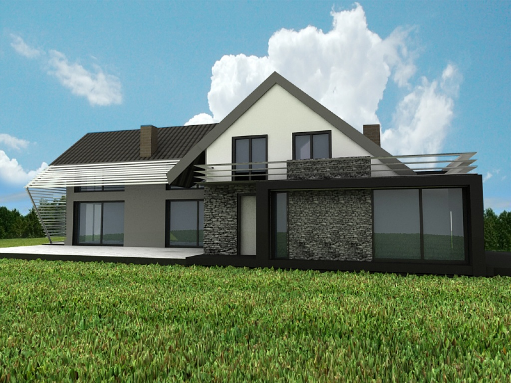 Nowoczesny projekt domu na indywidualne zamówienie, J9
