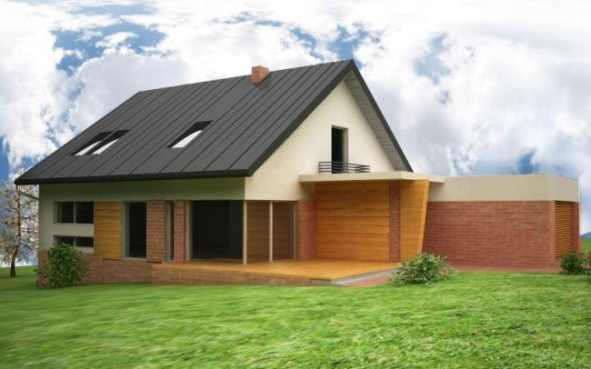 Projekt domu indywidualnego o złożonej funkcji k/Krakowa, J8