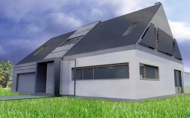 Indywidualny projekt nowoczesnego domu jednorodzinnego, J5