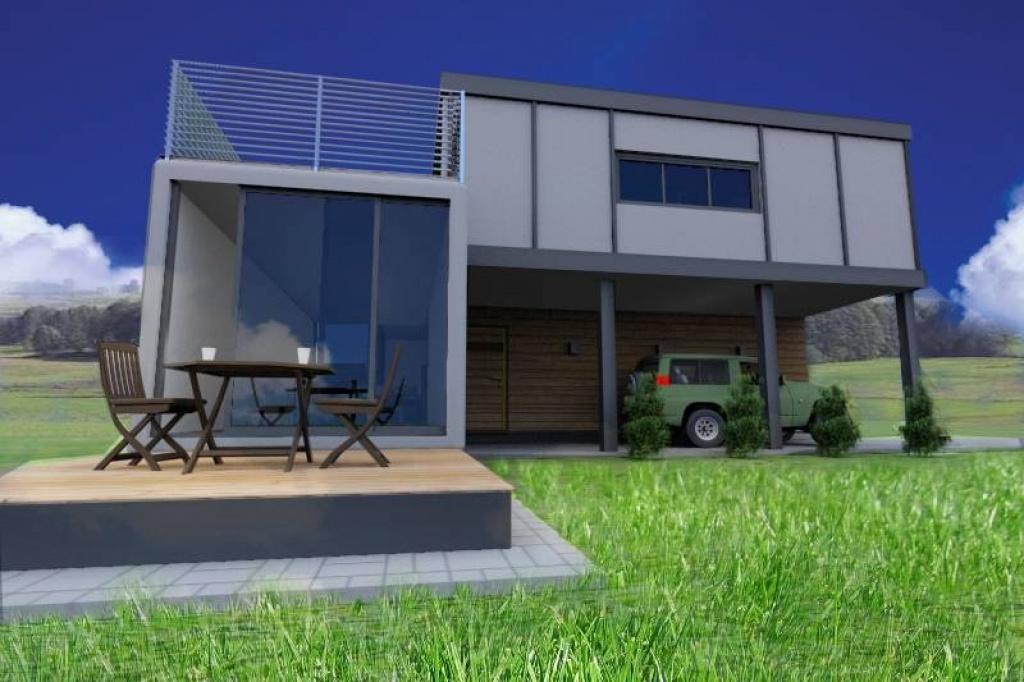 Nowoczesny ekonomiczny dom jednorodzinny lub budynek usługowy w jeden miesiąc