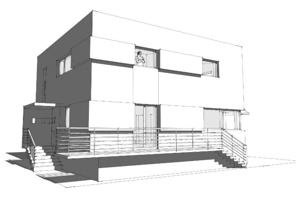 Modernizacja domu typu komunistyczna kostka z lat 80 tych