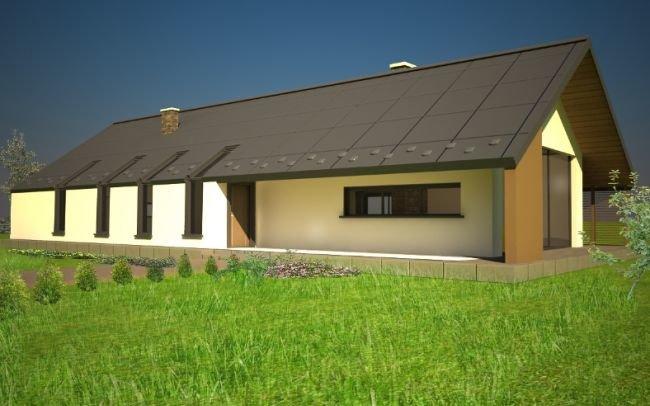 Projekt domu jednorodzinnego Prosty i tradycyjny Żegocina J3