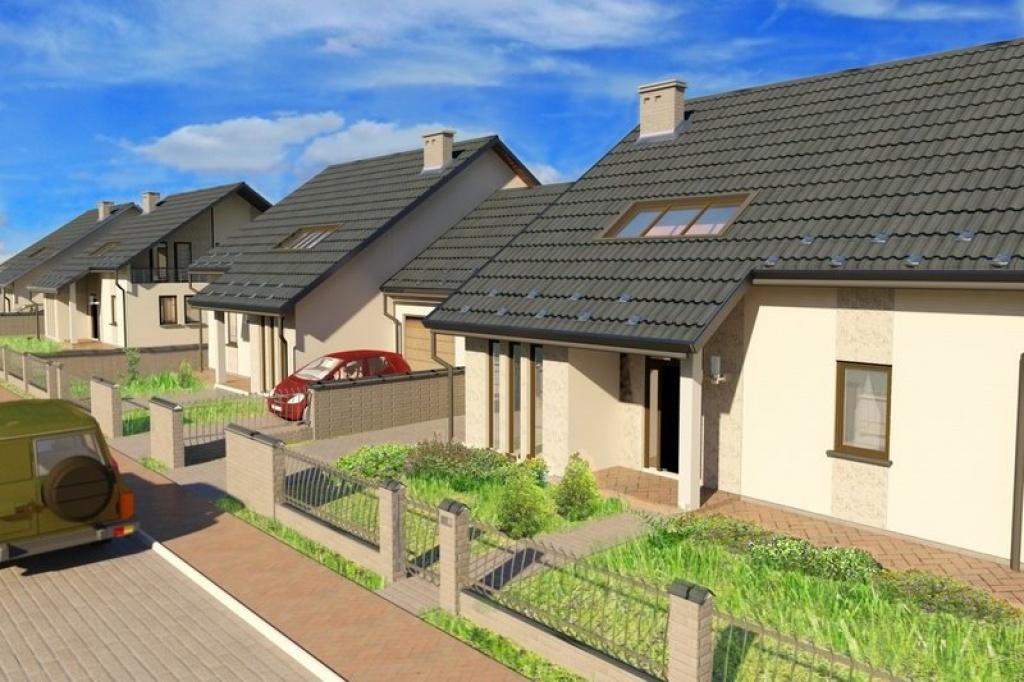 Projekt osiedla domków jednorodzinnych, Bibice gm. Zielonki
