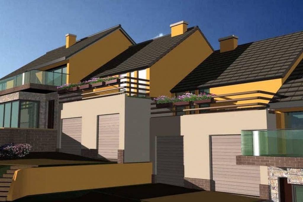 Projekt osiedla domów w zabudowie bliźniaczej