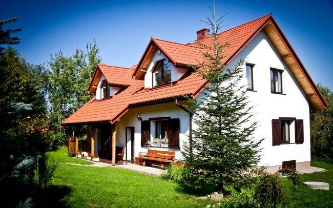 Architekt Kraków - Projekt przebudowy domu na działce ze spadkiem w górach - dom tradycyjny rustykalny - dom z werandą w siedlisku.