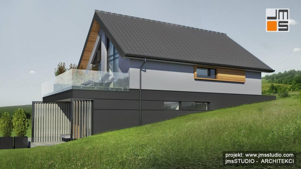 projekt indywidualny budynku typu bliźniak dwu lokalowy pod Krakowem - Architekt Kraków