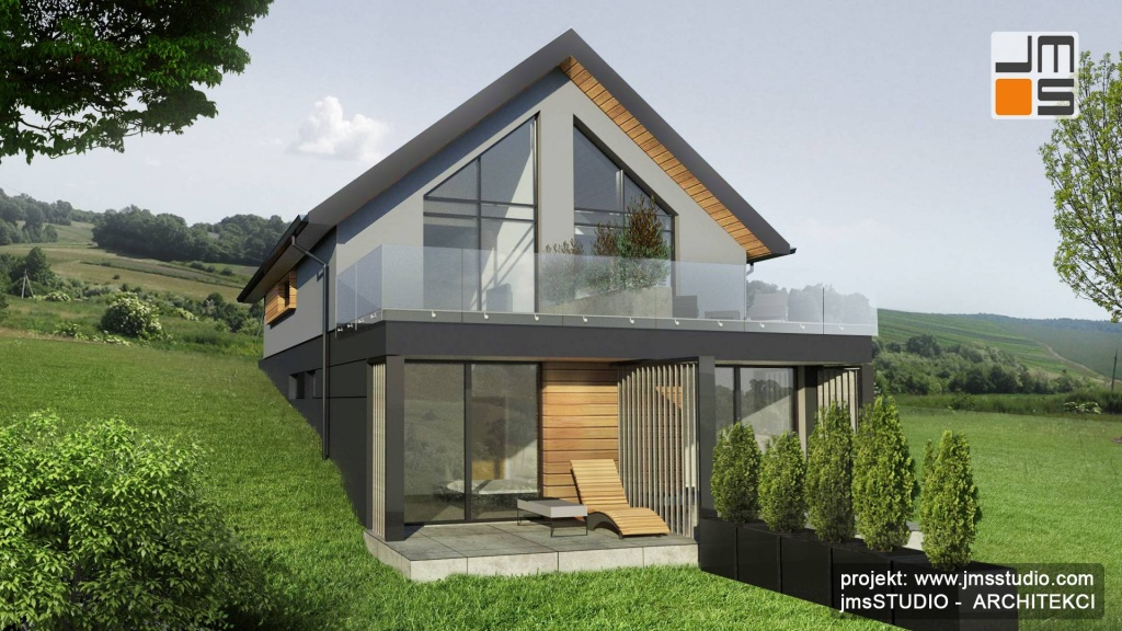 Architekt Kraków - dom jednorodzinny typu bliźniak z dwoma lokalami mieszkalnymi pod Krakowem - projekt deweloperski