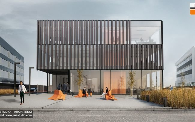 Projekt Nowoczesny Budynek Biurowy oraz Hala Przemysłowa  Produkcyjna i Magazynowa na Śląsku w okolicy Katowic