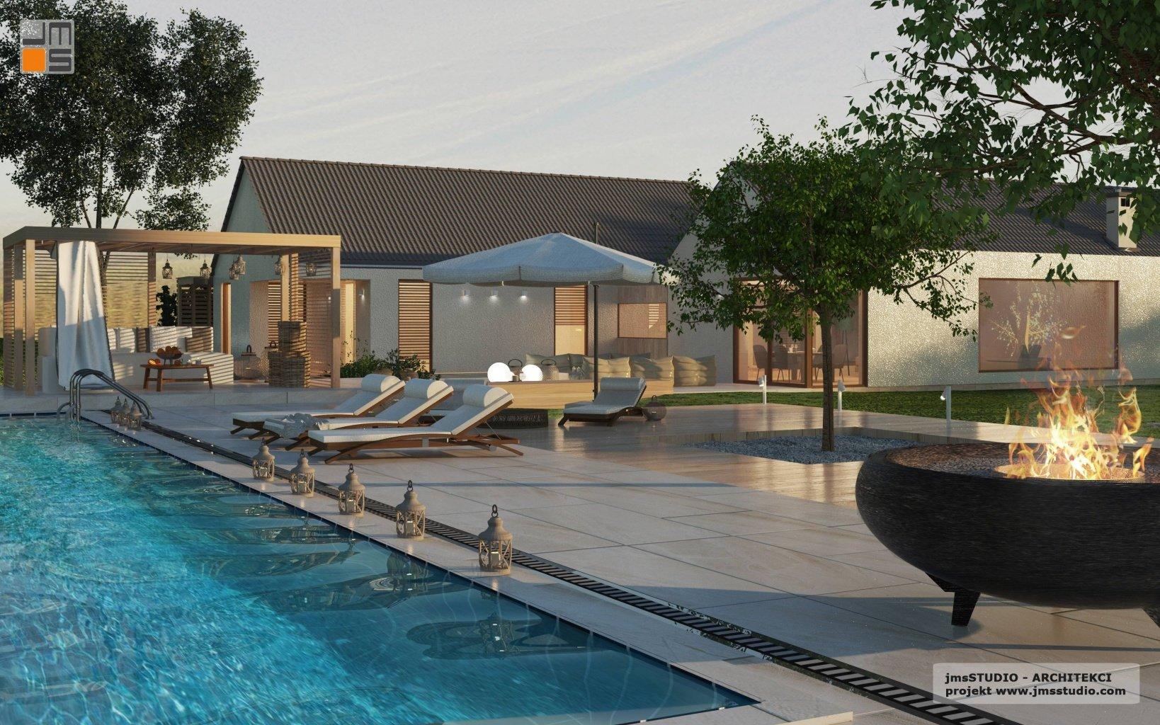 rezydencja z basenem to indywidualny projekt dom nowoczesny pod Kraków