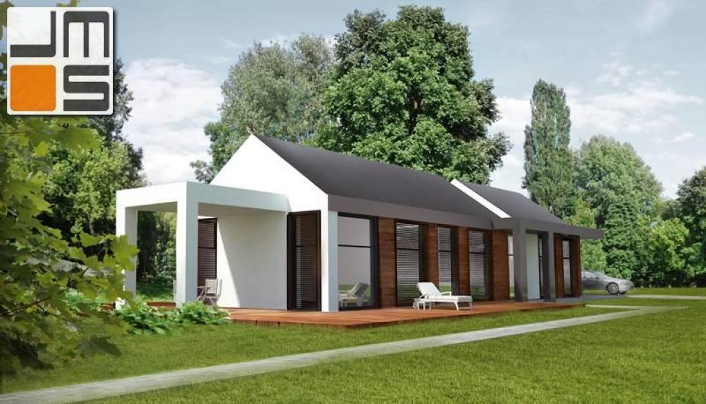 Dom z dachem bezokapowym