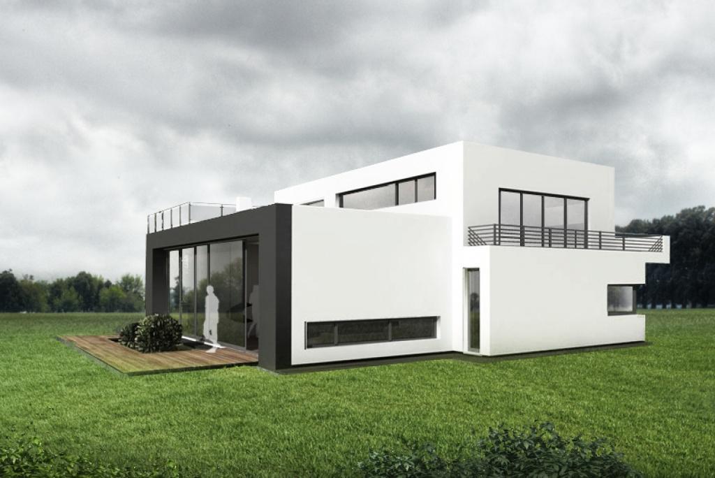 Dom z nowoczesnymi oknami przy podłodze
