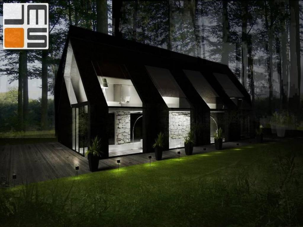 Elewacja domu jednorodzinnego w kolorze czarnym i białym