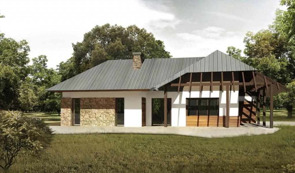 Elewacja odkryta więźba dachowa