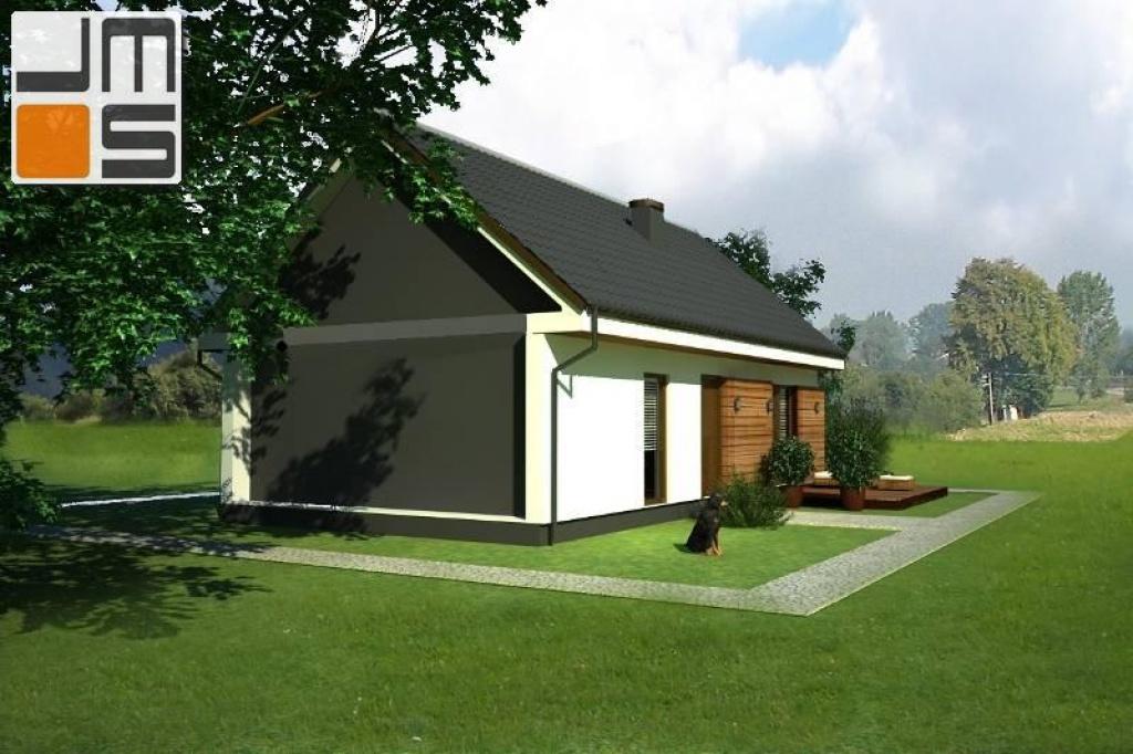Elewacja północna domu modułowego z aplikacjami drewnianymi ver.A