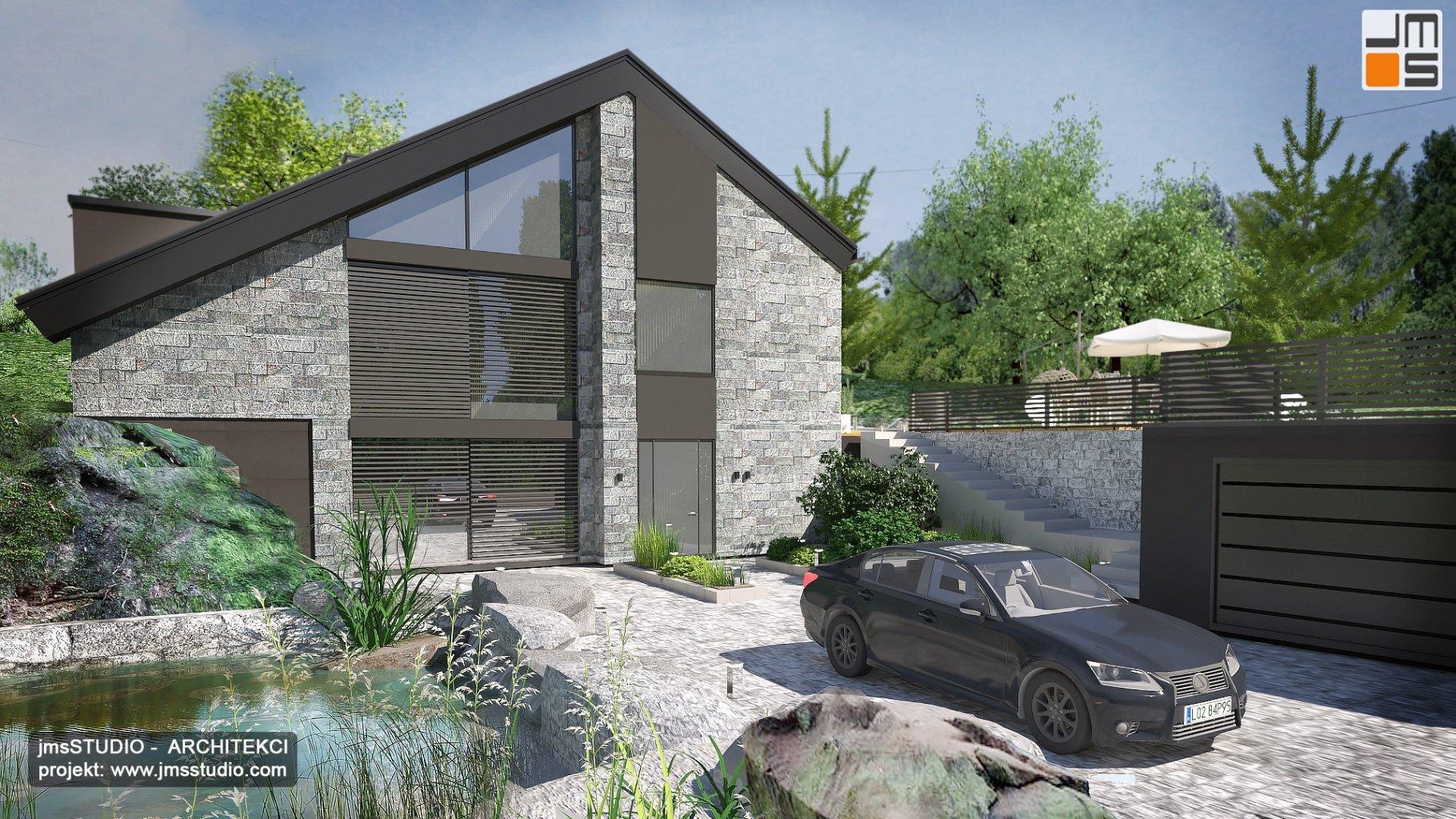 Projekt dużej rezydencji z basenem w Górnej  Austrii - projekt przebudowy domu z lat 70-tych w górach
