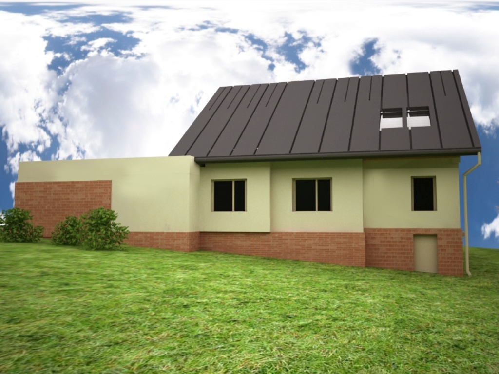 Indywidualny projekt domu na spadku terenu