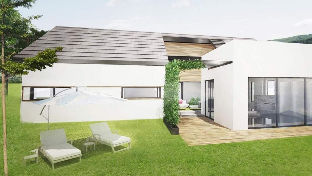 Nowoczesny projekt domu jednorodzinnego , dom na działce ze spadkiem