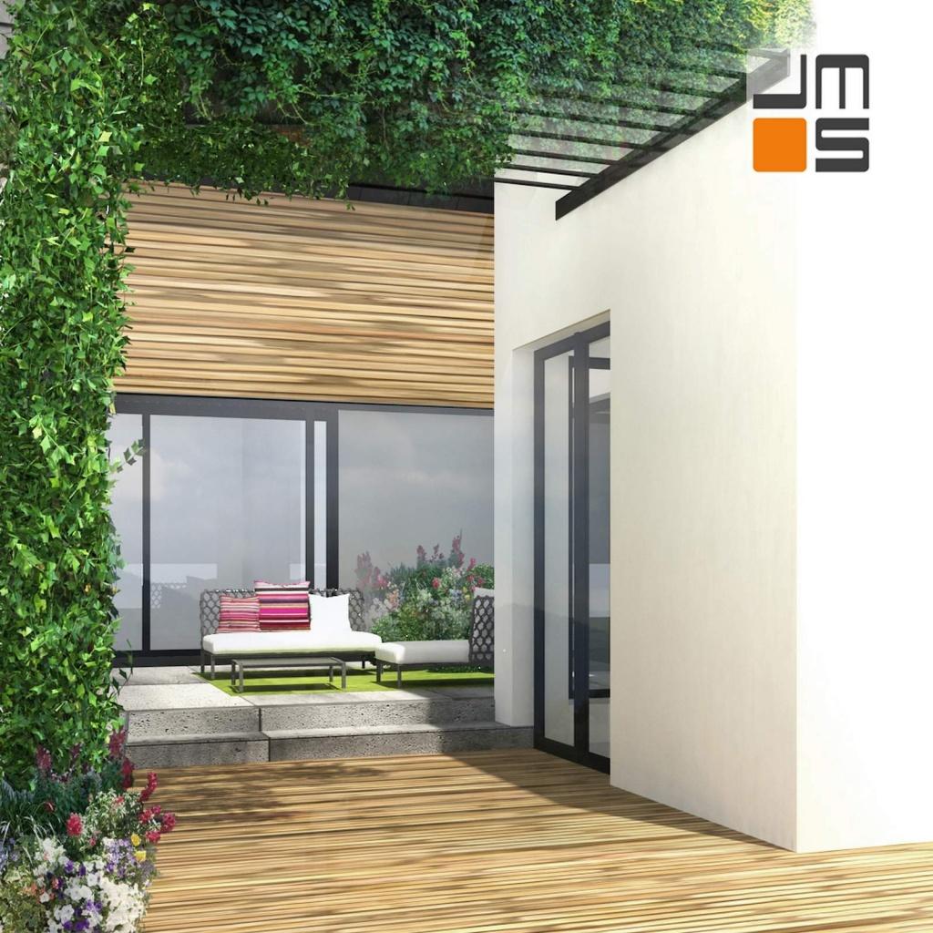 Atrium w domu jednorodzinnym
