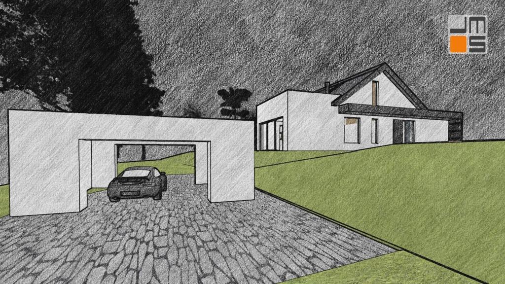 Projekt domu zlokalizowanego tarasowo - działka ze spadkiem
