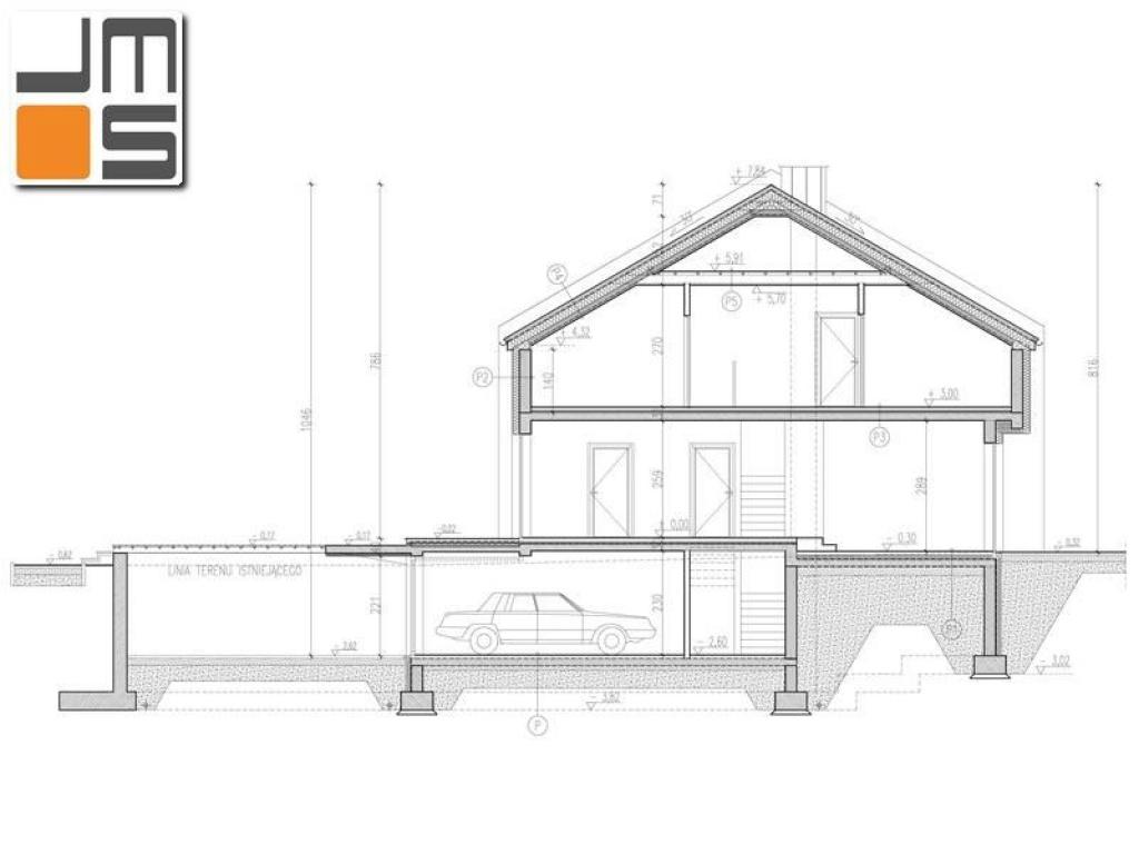 Koncepcja  domu tzw. szeregówki