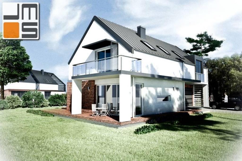 Koncepcja prostego budynku jednorodzinnego z zadaszonym tarasem