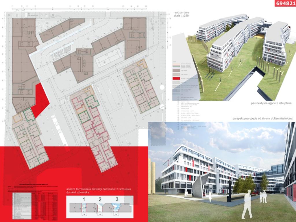 Konkurs na osiedle budynków wielorodzinnych w Krakowie