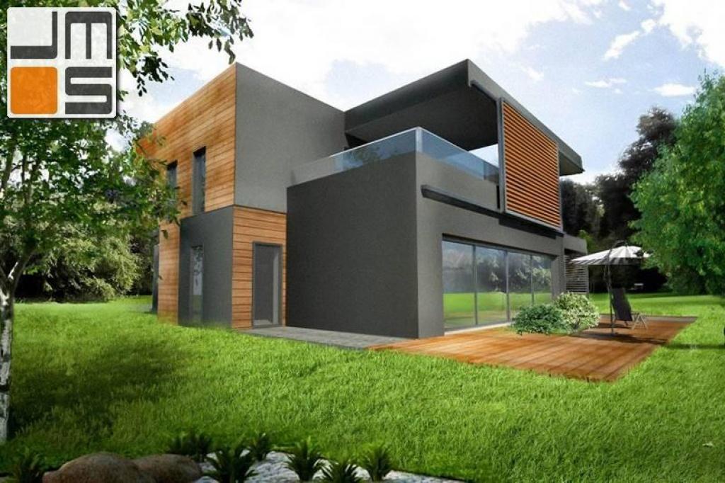 Projekt  nowoczesnego domu jednorodzinnego z dachem płaskim