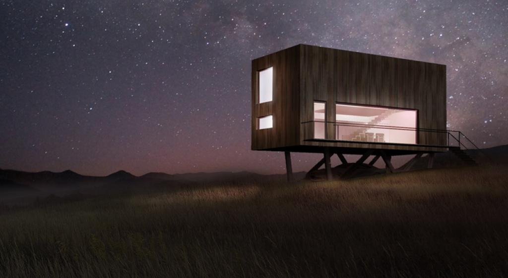 Projekt domu jednorodzinnego z drewna nowoczesny dom z kontenerów