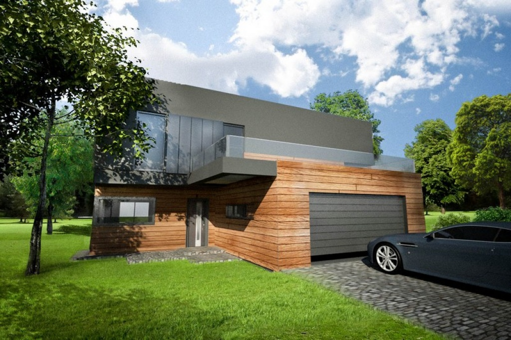 Projekt garażu dwustanowiskowego wbudowanego w dom