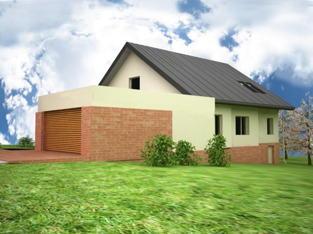 Projekt idnywidualny domu z garażem dwustanowiskowym