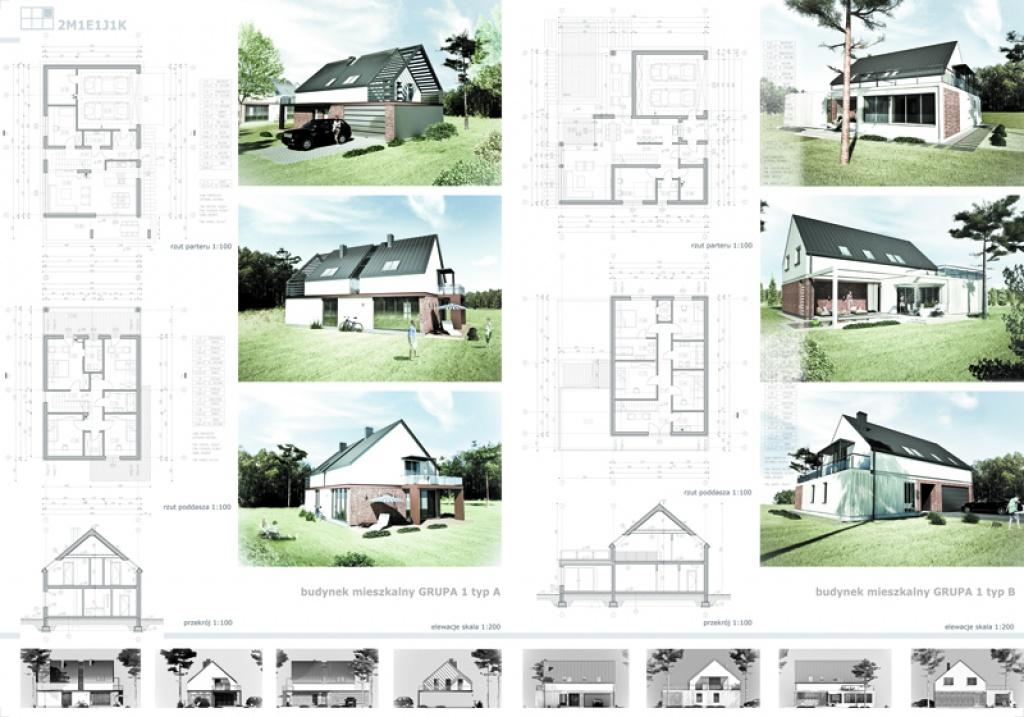 Projekt konkursowy na zagospodarowanie osiedla domów jednorodzinnych