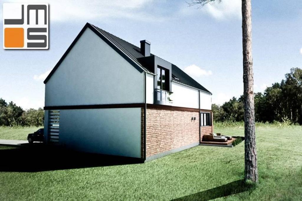 Projekt niewielkiego domu do zabudowy wolnostojącej lub bliźniaczej