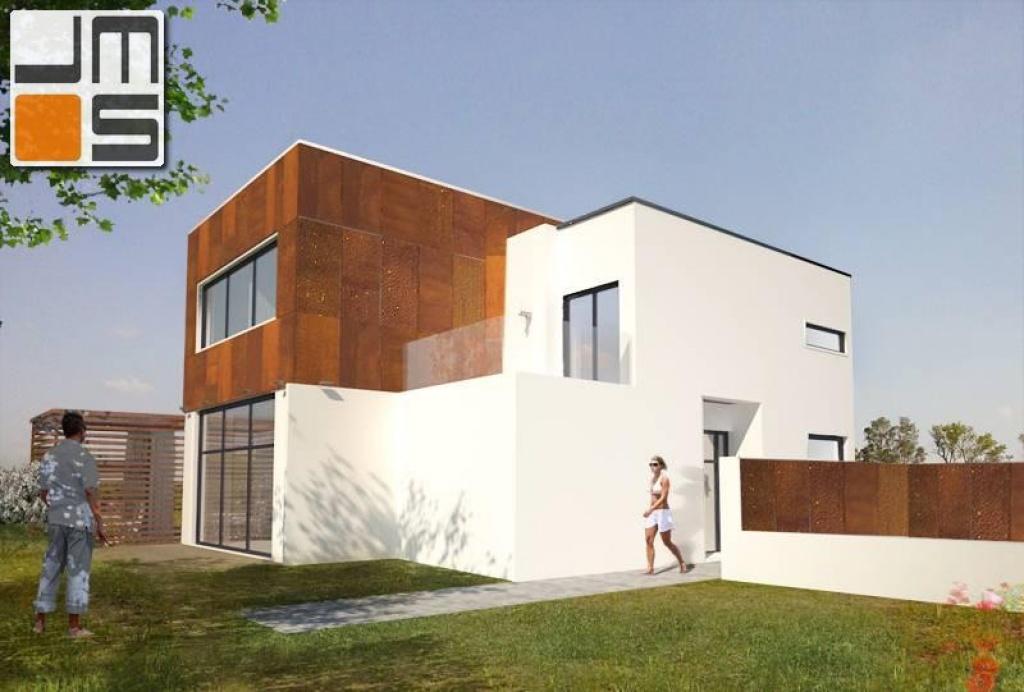 Projekt nowoczesnego domu kolorystyka elewacji