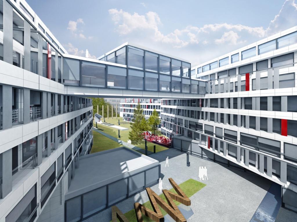 Projekt osiedla budynków wielorodzinnych mieszkalnych