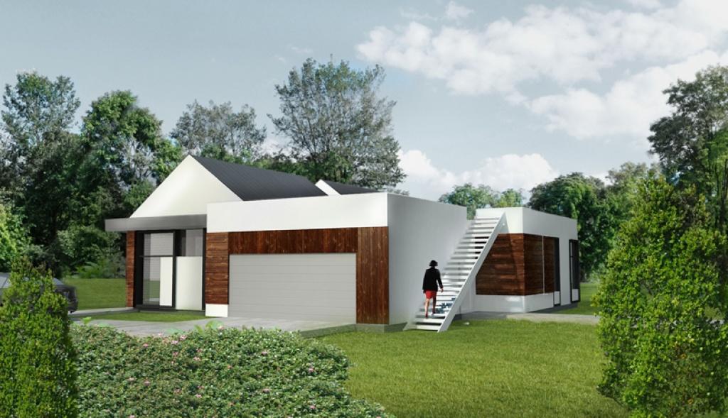 Projekt schodów zewnętrznych domu jednorodzinnego